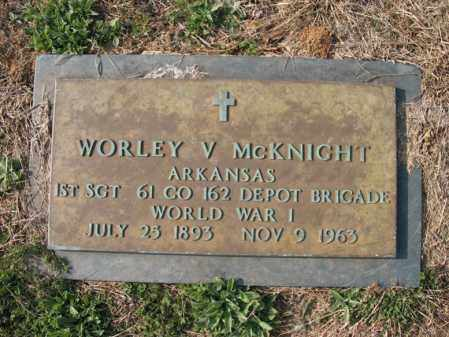 MCKNIGHT (VETERAN WWI), WORLEY V - Cross County, Arkansas | WORLEY V MCKNIGHT (VETERAN WWI) - Arkansas Gravestone Photos