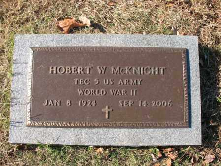 MCKNIGHT (VETERAN WWII), HOBERT WILLIAM - Cross County, Arkansas | HOBERT WILLIAM MCKNIGHT (VETERAN WWII) - Arkansas Gravestone Photos