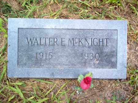 MCKNIGHT, WALTER E - Cross County, Arkansas | WALTER E MCKNIGHT - Arkansas Gravestone Photos