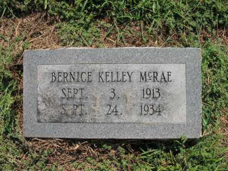 KELLEY MCRAE, BERNICE - Cross County, Arkansas | BERNICE KELLEY MCRAE - Arkansas Gravestone Photos