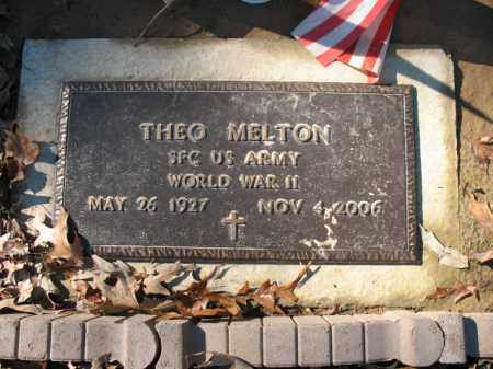 MELTON (VETERAN WWII), THEO - Cross County, Arkansas | THEO MELTON (VETERAN WWII) - Arkansas Gravestone Photos