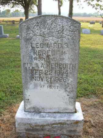 MEREDITH, LEONARD - Cross County, Arkansas | LEONARD MEREDITH - Arkansas Gravestone Photos
