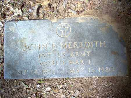 MEREDITH (VETERAN WWI), JOHN EDWARD - Cross County, Arkansas | JOHN EDWARD MEREDITH (VETERAN WWI) - Arkansas Gravestone Photos