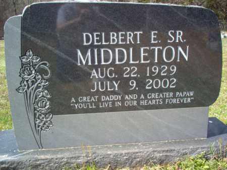 MIDDLETON, SR., DELBERT E - Cross County, Arkansas | DELBERT E MIDDLETON, SR. - Arkansas Gravestone Photos