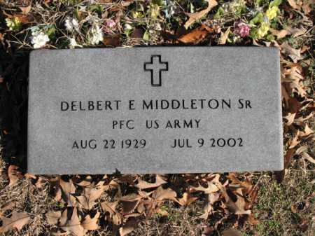 MIDDLETON, SR (VETERAN), DELBERT E - Cross County, Arkansas | DELBERT E MIDDLETON, SR (VETERAN) - Arkansas Gravestone Photos