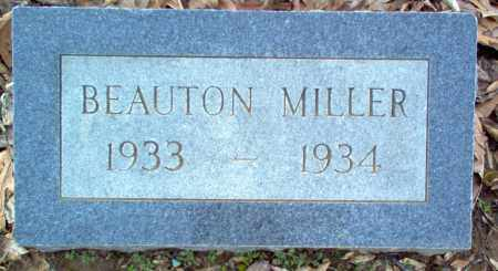MILLER, BEAUTON - Cross County, Arkansas | BEAUTON MILLER - Arkansas Gravestone Photos