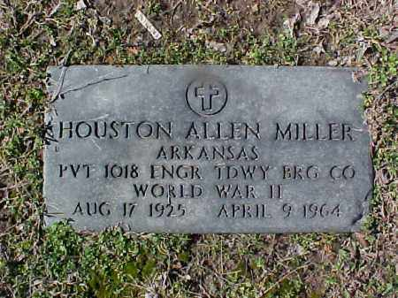 MILLER  (VETERAN WWII), HOUSTON ALLEN - Cross County, Arkansas | HOUSTON ALLEN MILLER  (VETERAN WWII) - Arkansas Gravestone Photos