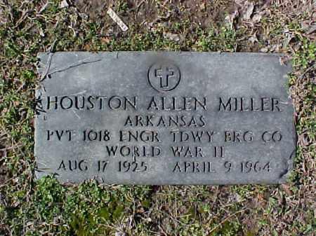 MILLER  (VETERAN WWII), HOUSTON ALLEN - Cross County, Arkansas | HOUSTON ALLEN MILLER  (VETERAN WWII) - Arkansas Gravestone Photos