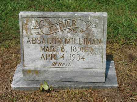 MILLIMAN, ABSALOM - Cross County, Arkansas | ABSALOM MILLIMAN - Arkansas Gravestone Photos