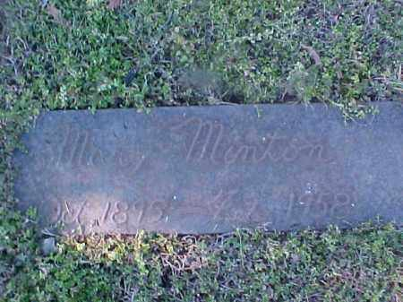MINTON, MARY - Cross County, Arkansas | MARY MINTON - Arkansas Gravestone Photos