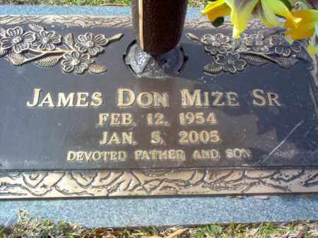 MIZE, SR., JAMES DON - Cross County, Arkansas | JAMES DON MIZE, SR. - Arkansas Gravestone Photos