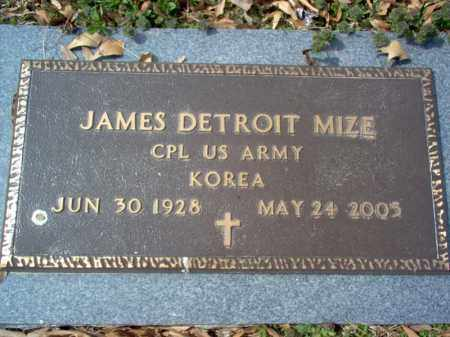 "MIZE (VETERAN KOR), JAMES DETROIT ""J D"" - Cross County, Arkansas 