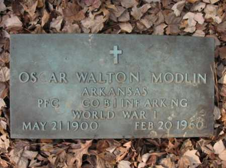 MODLIN  (VETERAN WWI), OSCAR WALTON - Cross County, Arkansas | OSCAR WALTON MODLIN  (VETERAN WWI) - Arkansas Gravestone Photos