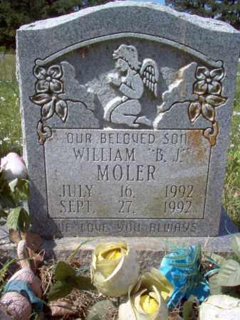 """MOLER, WILLIAM """"B J"""" - Cross County, Arkansas   WILLIAM """"B J"""" MOLER - Arkansas Gravestone Photos"""