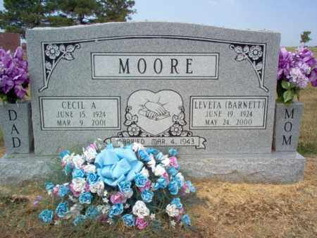 BARNETT MOORE, LEVETA - Cross County, Arkansas | LEVETA BARNETT MOORE - Arkansas Gravestone Photos