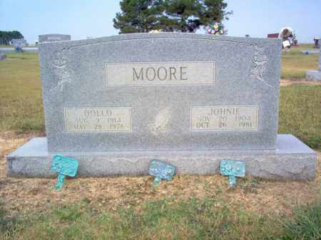 MOORE, JOHNIE - Cross County, Arkansas | JOHNIE MOORE - Arkansas Gravestone Photos