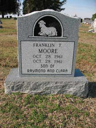 MOORE, FRANKLIN T - Cross County, Arkansas | FRANKLIN T MOORE - Arkansas Gravestone Photos