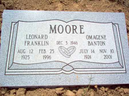 BANTON MOORE, OMAGENE - Cross County, Arkansas | OMAGENE BANTON MOORE - Arkansas Gravestone Photos