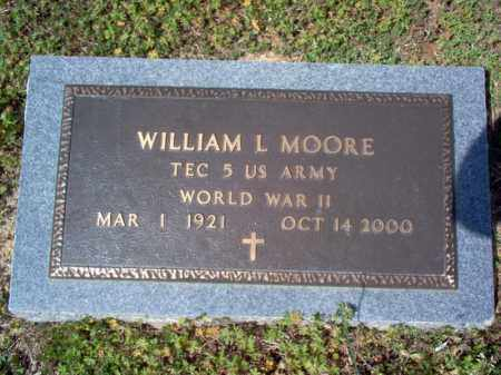 MOORE (VETERAN WWII), WILLIAM L - Cross County, Arkansas | WILLIAM L MOORE (VETERAN WWII) - Arkansas Gravestone Photos