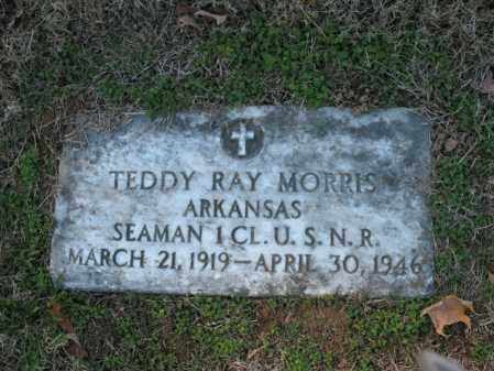 MORRIS (VETERAN WWII), TEDDY RAY - Cross County, Arkansas | TEDDY RAY MORRIS (VETERAN WWII) - Arkansas Gravestone Photos