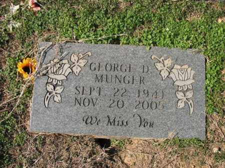 MUNGER, GEORGE D - Cross County, Arkansas | GEORGE D MUNGER - Arkansas Gravestone Photos