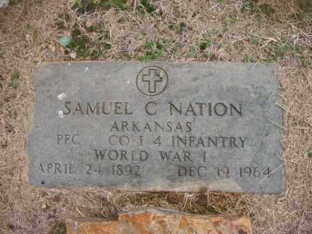NATION (VETERAN WWI), SAMUEL C - Cross County, Arkansas | SAMUEL C NATION (VETERAN WWI) - Arkansas Gravestone Photos