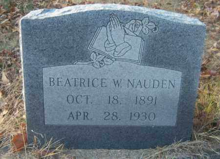 NAUDEN, BEATRICE W - Cross County, Arkansas | BEATRICE W NAUDEN - Arkansas Gravestone Photos