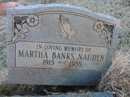 NAUDEN, MARTHA - Cross County, Arkansas | MARTHA NAUDEN - Arkansas Gravestone Photos