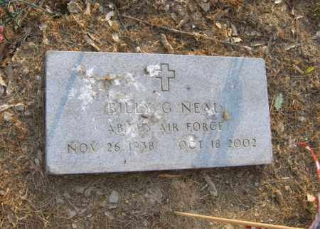 NEAL (VETERAN), BILLY G - Cross County, Arkansas | BILLY G NEAL (VETERAN) - Arkansas Gravestone Photos