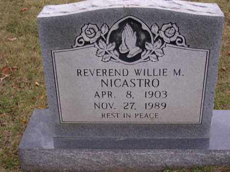 NICASTRO,  REV, WILLIE M - Cross County, Arkansas | WILLIE M NICASTRO,  REV - Arkansas Gravestone Photos