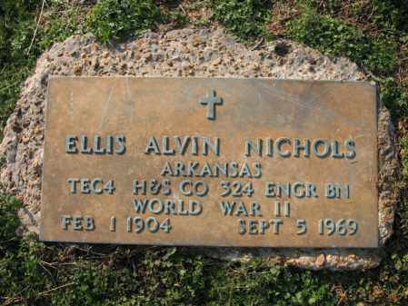 NICHOLS (VETERAN WWII), ELLIS ALVIN - Cross County, Arkansas | ELLIS ALVIN NICHOLS (VETERAN WWII) - Arkansas Gravestone Photos