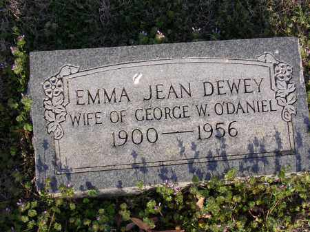 DEWEY O'DANIEL, EMMA JEAN - Cross County, Arkansas | EMMA JEAN DEWEY O'DANIEL - Arkansas Gravestone Photos