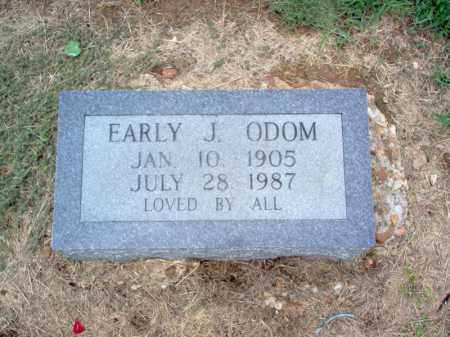 ODOM, EARLY J - Cross County, Arkansas | EARLY J ODOM - Arkansas Gravestone Photos