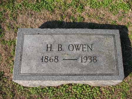 OWEN, H B - Cross County, Arkansas | H B OWEN - Arkansas Gravestone Photos