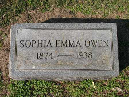 OWEN, SOPHIA EMMA - Cross County, Arkansas | SOPHIA EMMA OWEN - Arkansas Gravestone Photos
