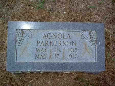 PARKERSON, AGNOLA - Cross County, Arkansas | AGNOLA PARKERSON - Arkansas Gravestone Photos