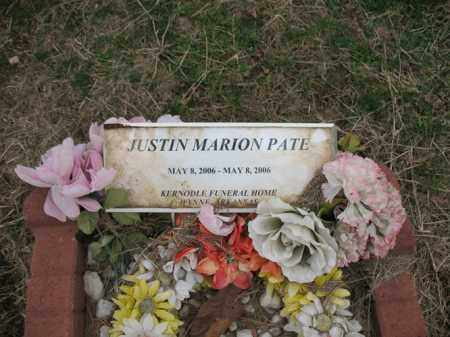 PATE, JUSTIN MARION - Cross County, Arkansas | JUSTIN MARION PATE - Arkansas Gravestone Photos