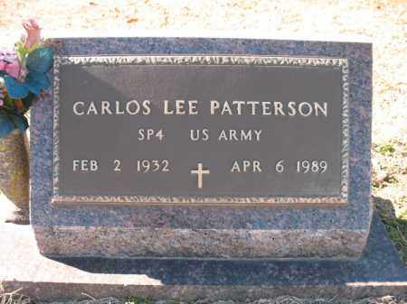 PATTERSON (VETERAN), CARLOS LEE - Cross County, Arkansas | CARLOS LEE PATTERSON (VETERAN) - Arkansas Gravestone Photos