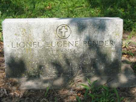 PENDER  (VETERAN 2 WARS), LIONEL EUGENE - Cross County, Arkansas | LIONEL EUGENE PENDER  (VETERAN 2 WARS) - Arkansas Gravestone Photos