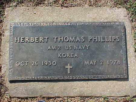 PHILLIPS  (VETERAN KOR), HERBERT THOMAS - Cross County, Arkansas | HERBERT THOMAS PHILLIPS  (VETERAN KOR) - Arkansas Gravestone Photos