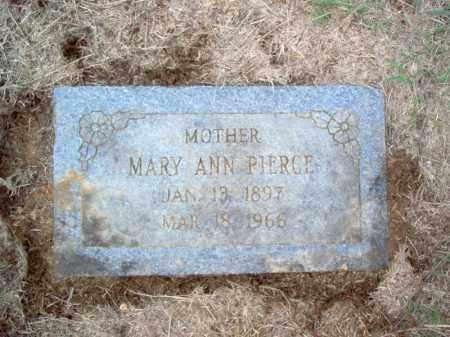 PIERCE, MARY ANN - Cross County, Arkansas | MARY ANN PIERCE - Arkansas Gravestone Photos