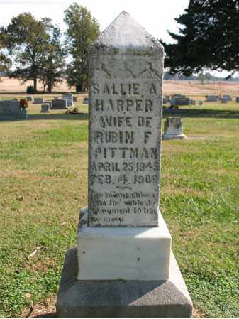 HARPER PITTMAN, SALLIE A - Cross County, Arkansas | SALLIE A HARPER PITTMAN - Arkansas Gravestone Photos