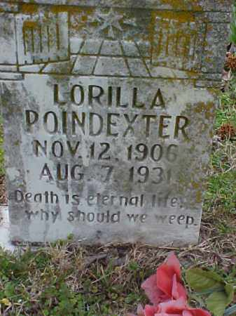 POINDEXTER, LORILLA - Cross County, Arkansas | LORILLA POINDEXTER - Arkansas Gravestone Photos