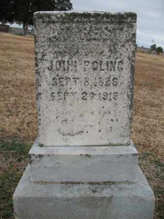 POLING, JOHN - Cross County, Arkansas | JOHN POLING - Arkansas Gravestone Photos