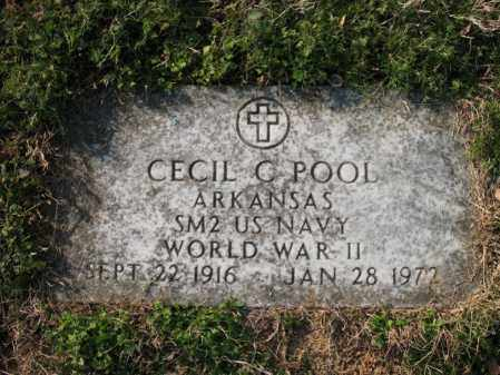 POOL (VETERAN WWII), CECIL C - Cross County, Arkansas | CECIL C POOL (VETERAN WWII) - Arkansas Gravestone Photos