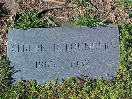 POUNDERS, CEBURN B - Cross County, Arkansas | CEBURN B POUNDERS - Arkansas Gravestone Photos