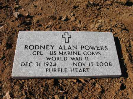 POWERS (VETERAN WWII), RODNEY ALAN - Cross County, Arkansas | RODNEY ALAN POWERS (VETERAN WWII) - Arkansas Gravestone Photos