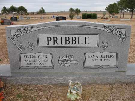 PRIBBLE, ELVERN GLEN - Cross County, Arkansas | ELVERN GLEN PRIBBLE - Arkansas Gravestone Photos