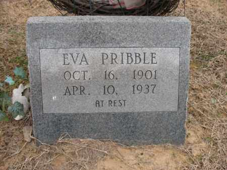 PRIBBLE, EVA - Cross County, Arkansas | EVA PRIBBLE - Arkansas Gravestone Photos