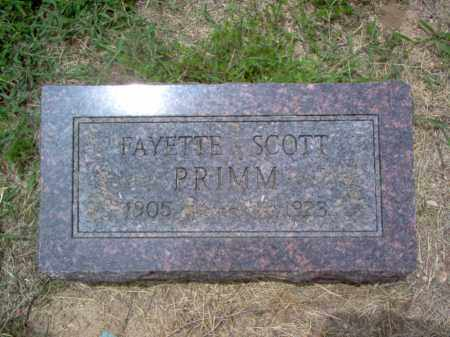 PRIMM, FAYETTE SCOTT - Cross County, Arkansas | FAYETTE SCOTT PRIMM - Arkansas Gravestone Photos